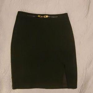 Black Skirt with Slit